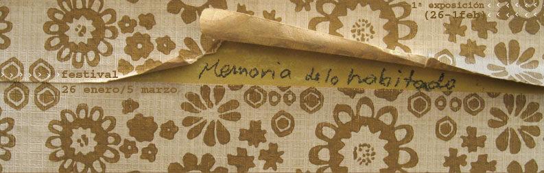 2006 – 02. Memoria de lo Habitado
