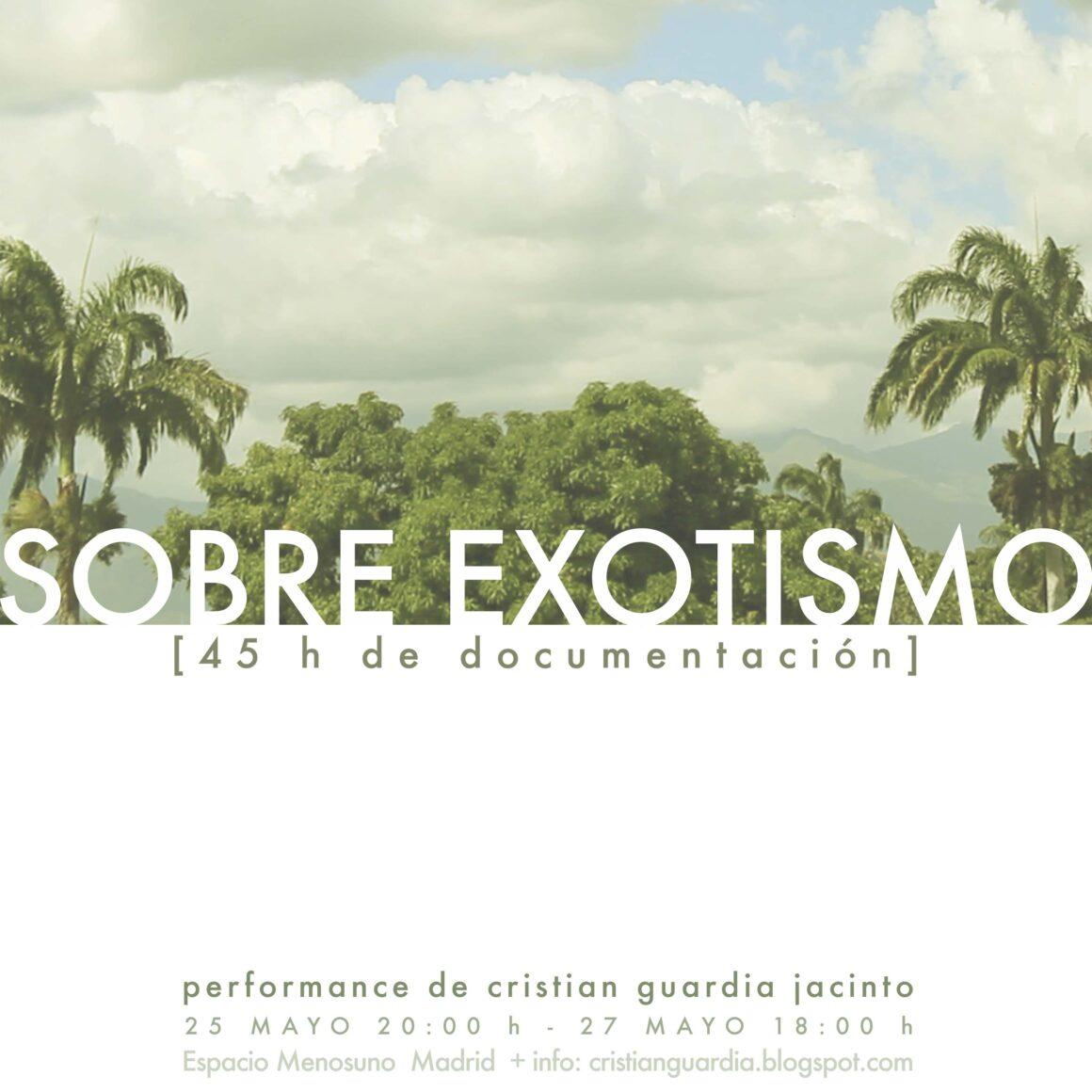 2012 – 03. Sobre Exotismo