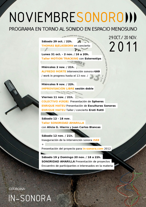 2011 – 19. NOVIEMBRESONORO